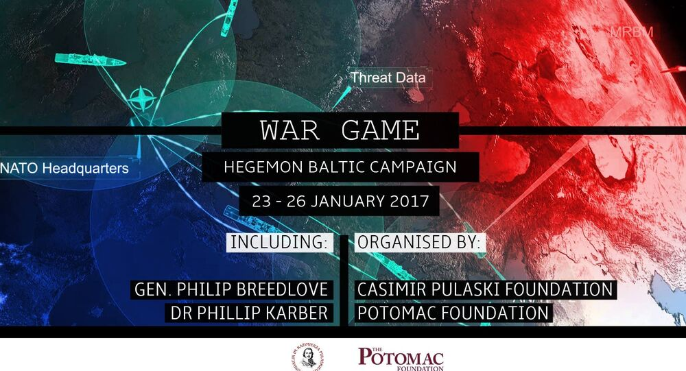 'War Game: Hegemon Baltic Campaign' promotional poster.