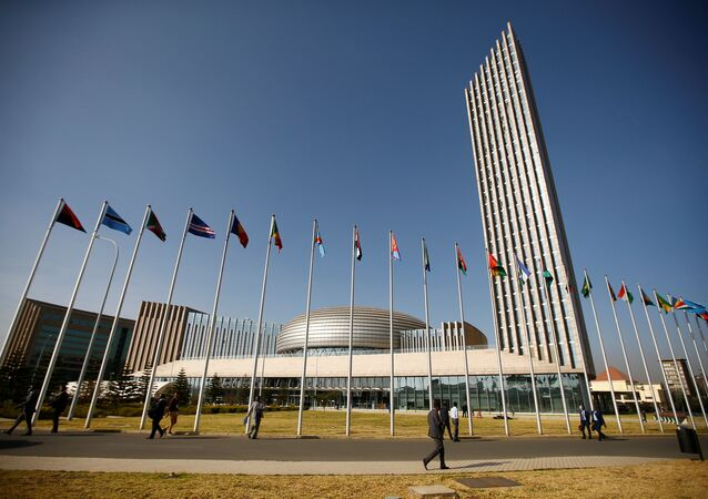 A general view shows the headquarters of the African Union (AU) building in Ethiopia's capital Addis Ababa, January 29, 2017