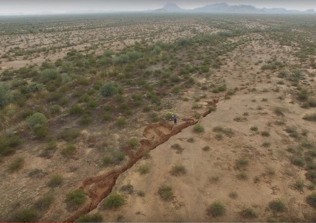 Using Drone Technology to Examine an Earth Fissure