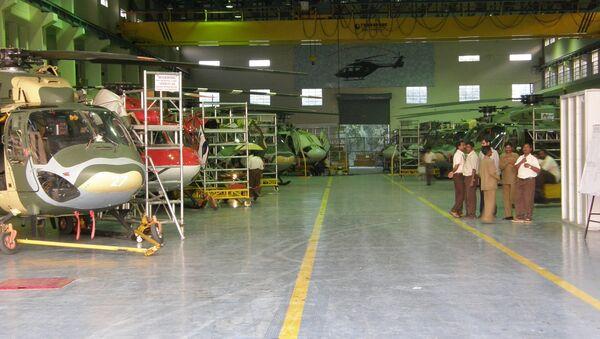 Production line of the HAL Dhruv at Bangalore - Sputnik International