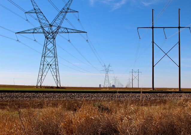 High-tension power lines