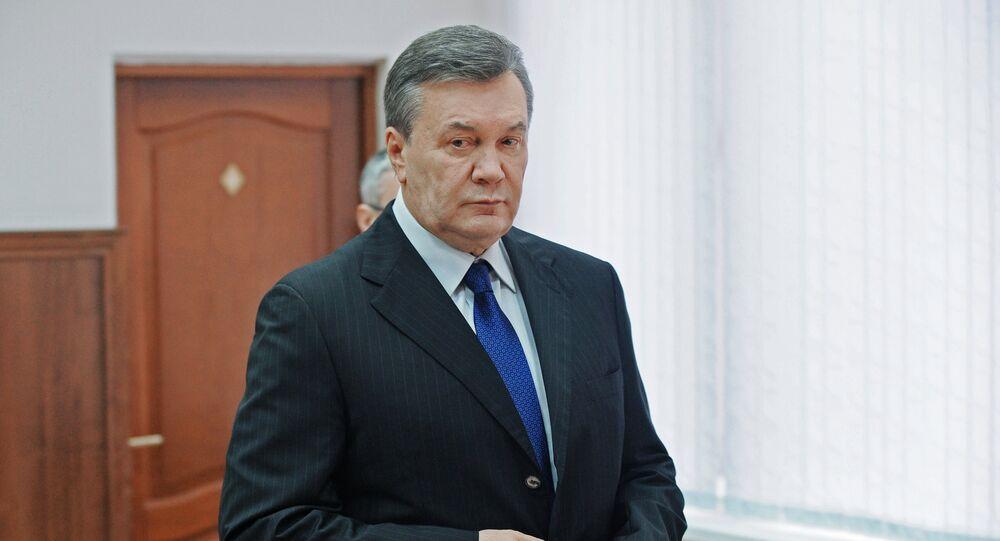 Viktor Yanukovych testifies via video link during trial into February 2014 unrest in Kiev