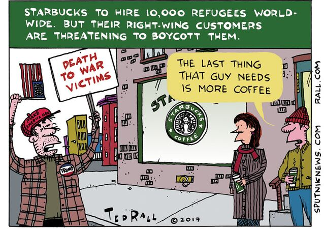 Now Hiring Refugees to Sell Overpriced Coffee