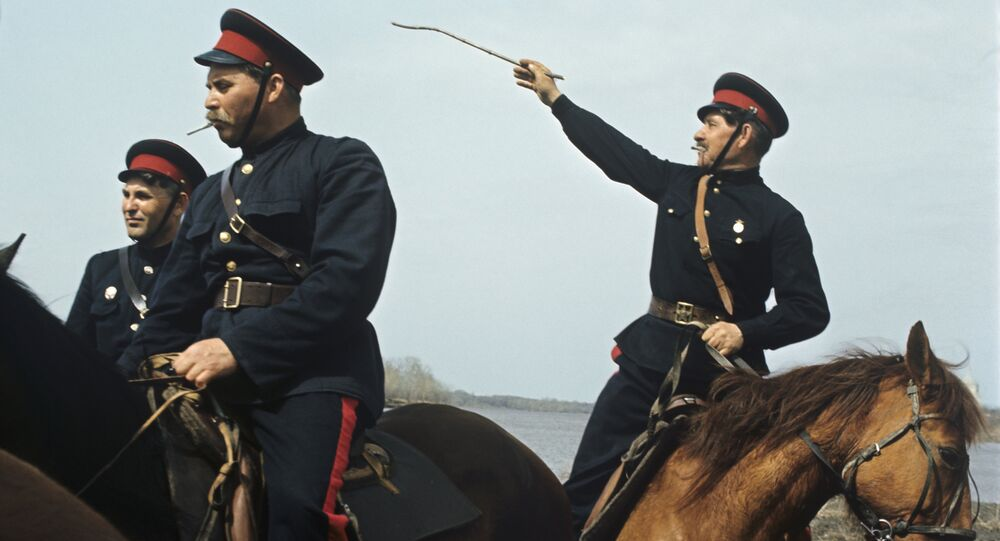 Cossacks of Veshenskaya cossack village. (File)