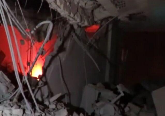 Air strike hits Red Crescent HQ in Idlib