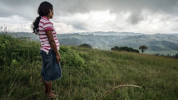 Julia Francisco Martinez is the widow of indigenous activist and human rights defender Francisco Martinez Marquez, a member of MILPAH who was found murdered in January 2015 after months of death threats. His body was found dismembered with his hands tied with the laces of military boots. The men alleged to have killed Francisco remain at large in the community. - Sputnik International
