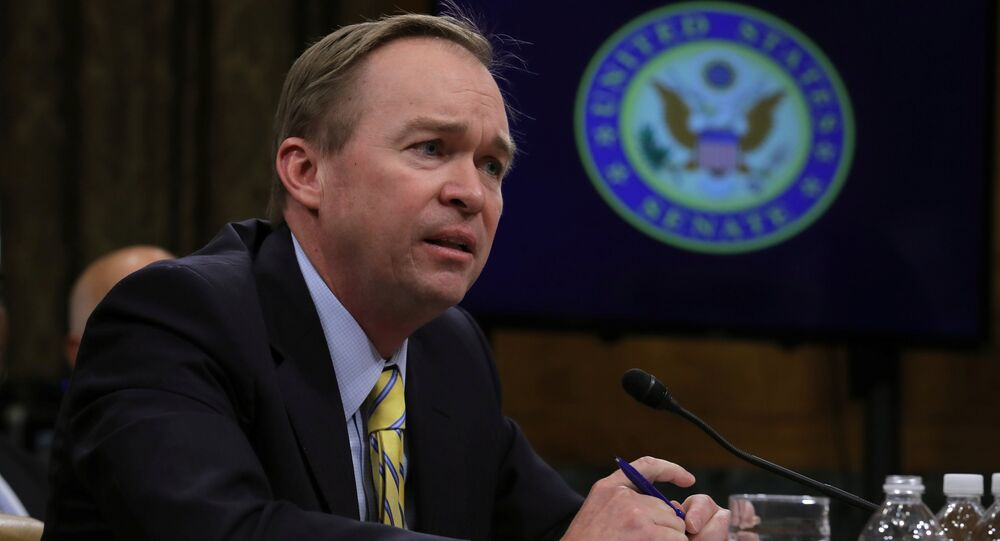 Mick Mulvaney (R-SC) testifies before a Senate Budget Committee confirmation hearing on his nomination of to be director of the Office of Management and Budget on Capitol Hill in Washington, U.S