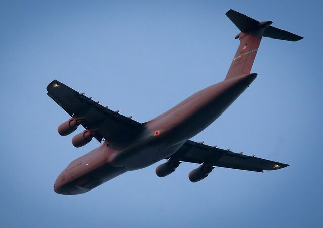 C-5 military airlift plane