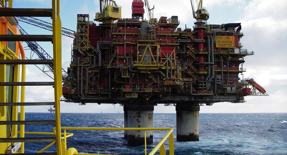 Norwegian oil rig Statfjord A