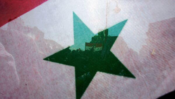 An image of the Syrian flag in Damascus - Sputnik International