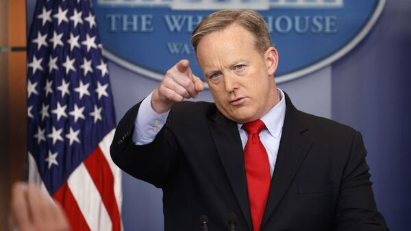 White House press secretary Sean Spicer speaks during the daily press briefing at the White House in Washington - Sputnik International