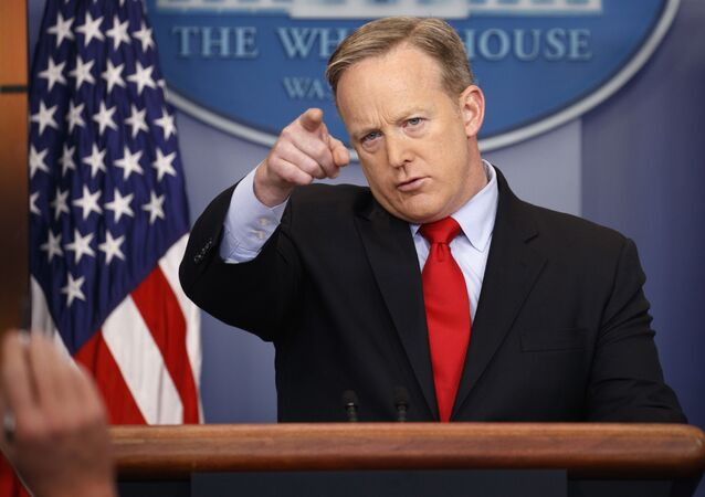 White House press secretary Sean Spicer speaks during the daily press briefing at the White House in Washington