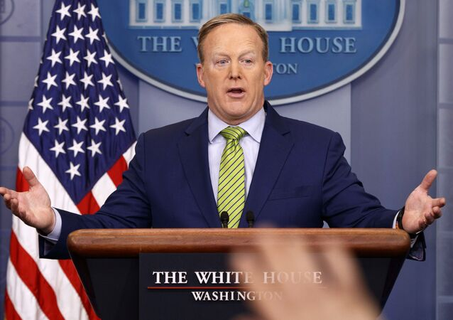 White House press secretary Sean Spicer speaks during the daily press briefing in the briefing room of the White House in Washington