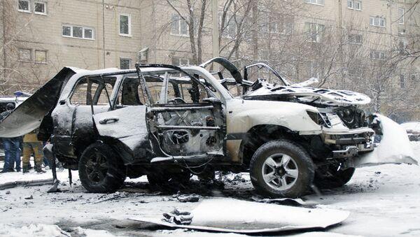 Car explodes in Luhansk - Sputnik International