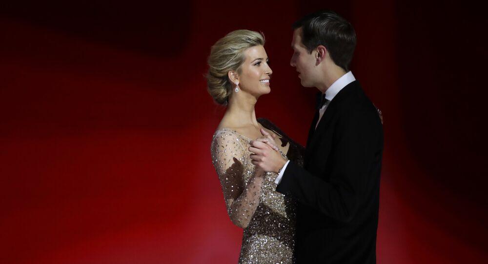 Ivanka Trump, left, daughter of President Donald Trump, dances with her husband Jared Kushner at the Liberty Ball, Friday, Jan. 20, 2017, in Washington.