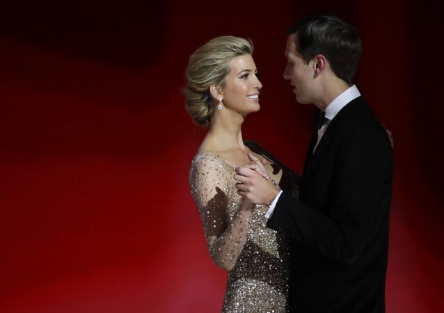 Ivanka Trump, left, daughter of President Donald Trump, dances with her husband Jared Kushner at the Liberty Ball, Friday, Jan. 20, 2017, in Washington.