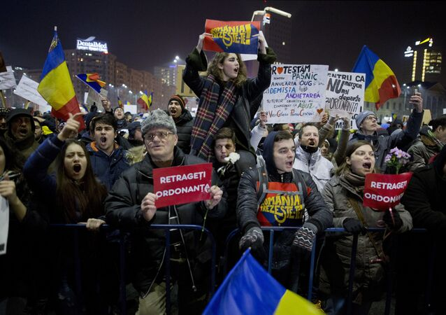 Anti-government protests in Bucharest