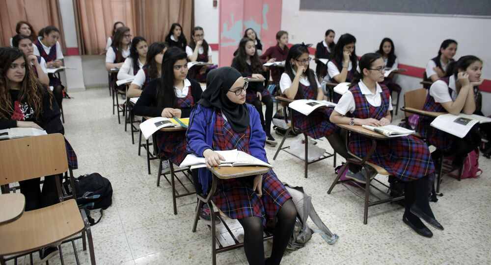 Muslim and Christian students (File)