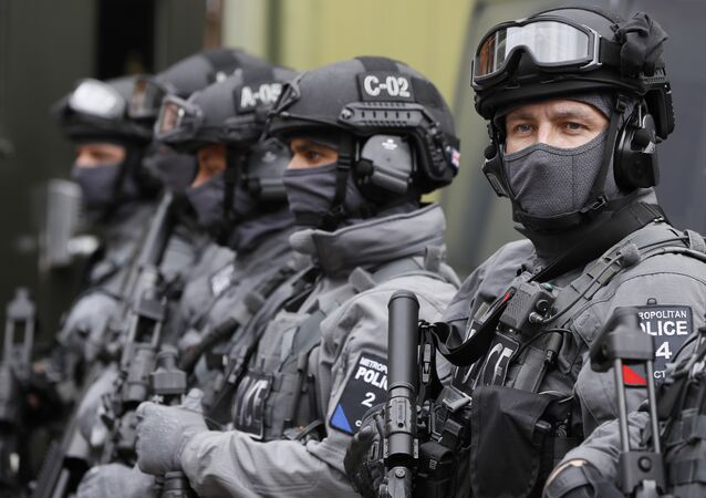 Police counter terrorism officers in London (File)