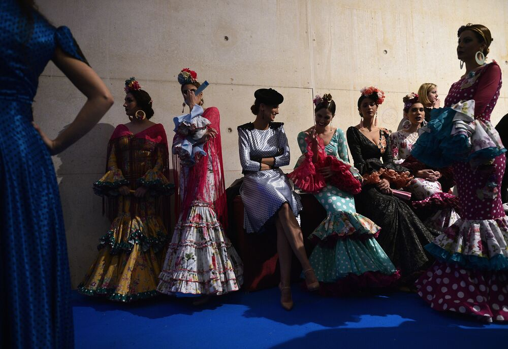 The Flamenco Flames of the International Fashion Show in Spain