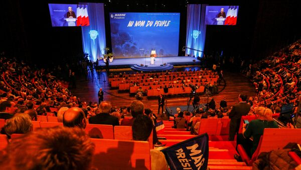 Marine Le Pen, French National Front (FN) political party leader and candidate for the French 2017 presidential election, attends the 2-day FN political rally to launch the presidential campaign in Lyon, France February 5, 2017 - Sputnik International