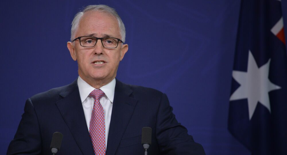 Australia Prime Minister Malcolm Turnbull speaks about an alleged terror plot at a press conference in Sydney on December 23, 2016.