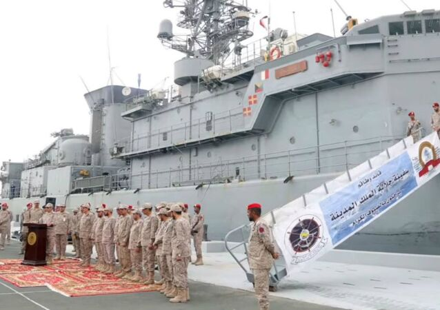 A Saudi Arabian frigate assualted by Houthis returns to safe shores.