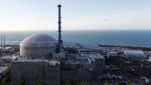 General view of the construction site of the third-generation European Pressurised Water nuclear reactor (EPR) in Flamanville, France. (File) - Sputnik International