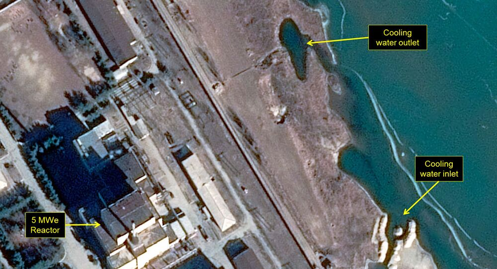 Map of North Korea's Yongbyon nuclear facility