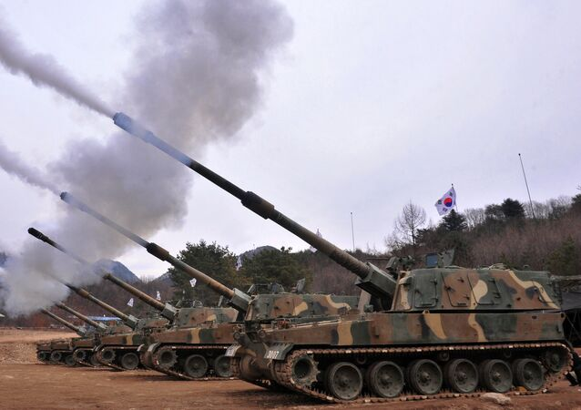 South Korean army K9 Thunder 155mm self-propelled Howitzers (image used for illustration purpose)