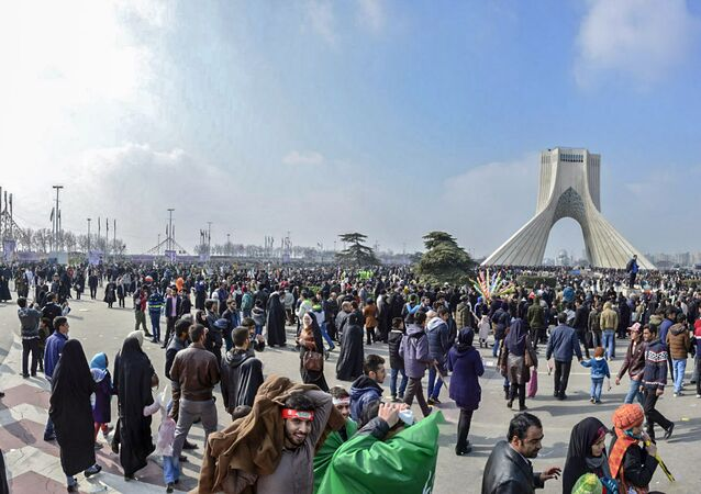 Rally marking the anniversary of the 1979 Islamic revolution in the capital Tehran