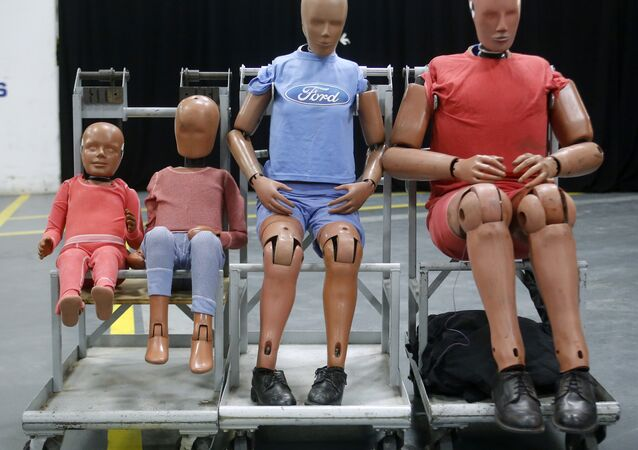 Crash Test Dummies at Ford Motor Company's Dearborn Development Center.