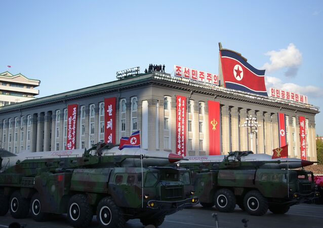 Medium range Nodong ballistic missiles are paraded in Pyongyang, North Korea (File)