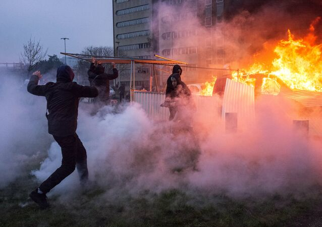 Protest against police brutality in France