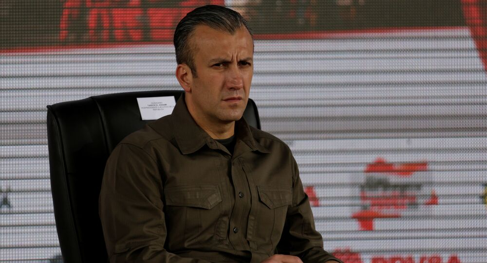 Venezuela's Vice President Tareck El Aissami attends the swearing-in ceremony of the new board of directors of Venezuelan state oil company PDVSA in Caracas, Venezuela January 31, 2017