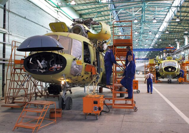 The assembly hall at Kazan Helicopter Plant, Kazan