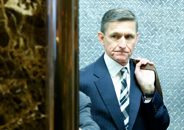 Retired Lt. Gen. Michael Flynn arrives at the Trump Tower (File)