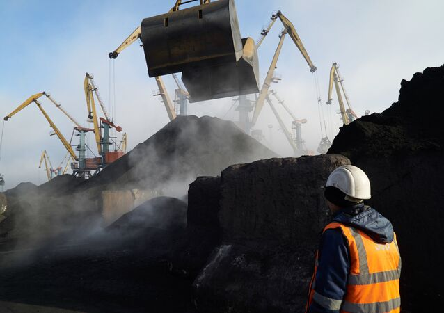 Coal unloaded at Odessa port. File photo