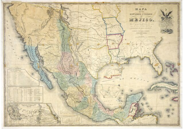 Mapa de los Estados Unidos de Méjico by John Distrunell, the 1847 map used during the negotiations
