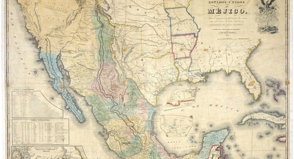 Mapa de los Estados Unidos de Méjico by John Distrunell, the 1847 map used during the negotiations
