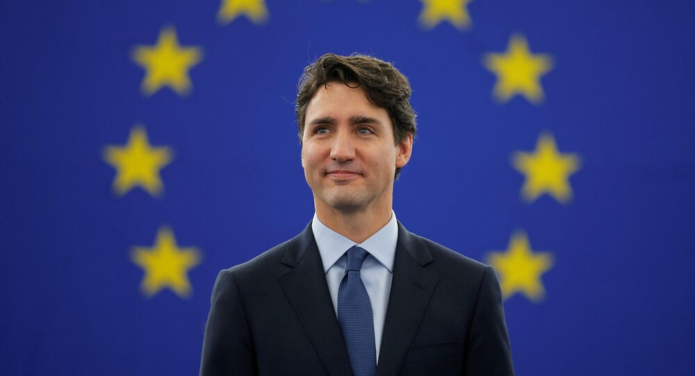 Canada's Prime Minister Justin Trudeau arrives to adress the European Parliament in Strasbourg, France, February 16, 2017.