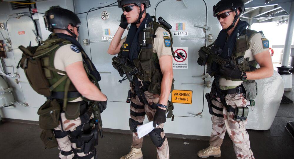 Swedish EMF (Embarked Military Force). (File)