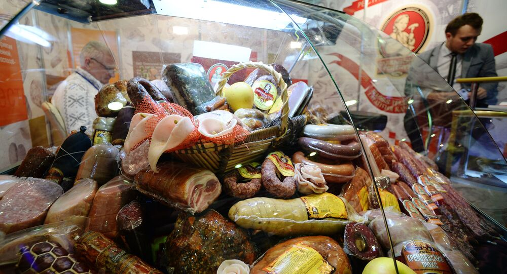 The stand of a Belarus meat producer