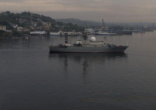Russian warship Viktor Leonov. (File)