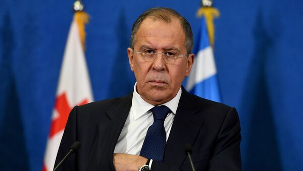Russian Foreign Minister Sergey Lavrov looks on during a press conference after the BSEC session in Belgrade on December 13, 2016 - Sputnik International