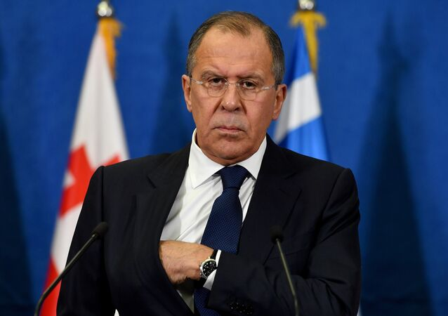 Russian Foreign Minister Sergey Lavrov looks on during a press conference after the BSEC session in Belgrade on December 13, 2016