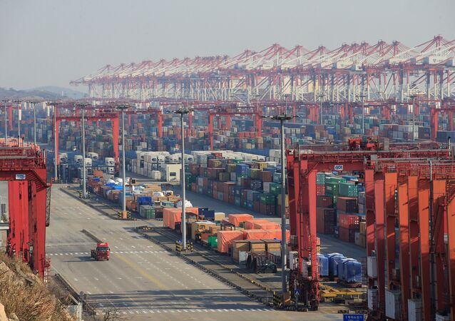 Containers are seen at the Yangshan Deep Water Port, part of the Shanghai Free Trade Zone, in Shanghai, China, February 13, 2017