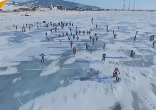 The Ice Storm Race on Lake Baikal
