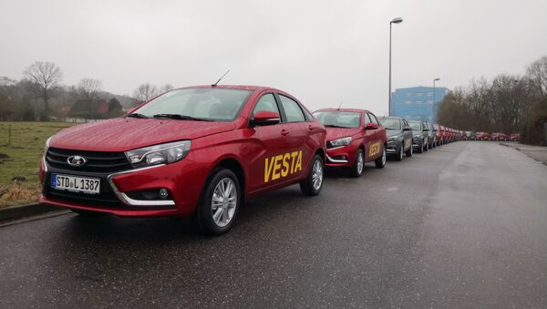 Lada Vesta sedans arrive in Germany. Sales started this week. - Sputnik International
