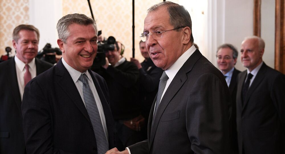 Sergei Lavrov meets with UN High Commissioner for Refugees Filippo Grandi